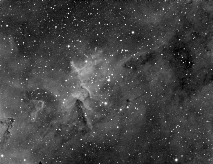 Interior of the Heart Nebula (IC 1805) - Ha Filter