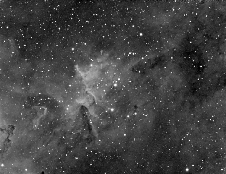 Interior of the Heart Nebula (IC 1805) - Ha Filter