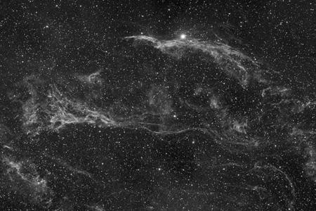 Western Veil Nebula (NGC 6960) and Pickering's Triangle (NGC 6979) - Ha Filter